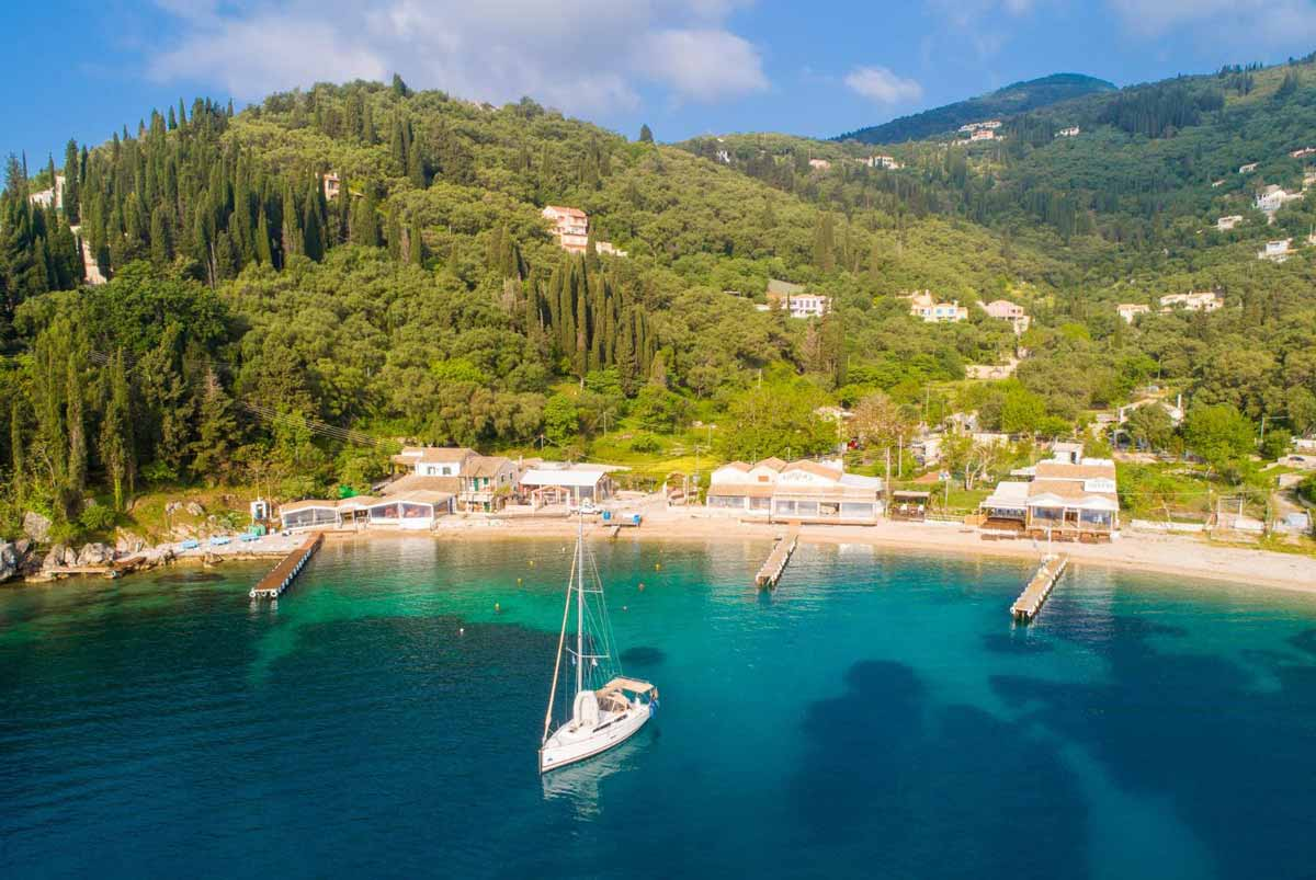 carpofoli corfu beaches agni bay